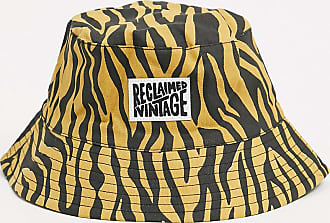 Reclaimed Vintage inspired logo bucket hat in tiger print-Pink