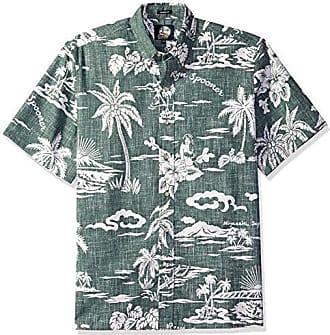 6c99e63b Reyn Spooner Mens My Private Isle Spooner Kloth Classic Fit Hawaiian Shirt,  Dark Forest,