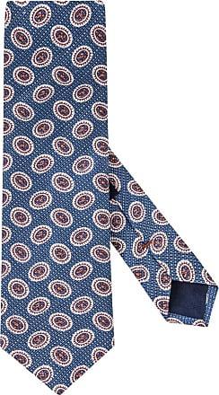 Altea Übergröße : Altea, Krawatte mit modischem Muster, Leinenmix in Blau für Herren