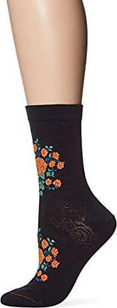 Ozone Womens Indian Rosettes Sock, Navy, 9-11