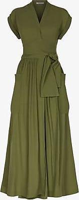 Three Graces London Clarissa Dress in Olive