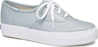 Keds Womens Triple Core Fashion Sneaker, Denim, 7.5 M US Light Blue