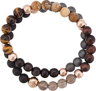 Nialaya beaded wrap around bracelet - Black