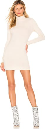 About Us Nadia Turtle Neck Dress in White
