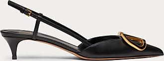 Valentino Garavani Valentino Garavani Vlogo Calfskin Slingback Pump 40 Mm Women Black 100% Pelle Di Vitello - Bos Taurus 35.5