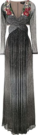 PatBo Vestido longo bordado - Cinza