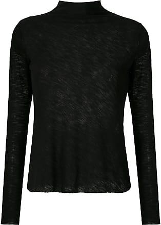 Uma Blusa Costa a collo alto - Di colore nero