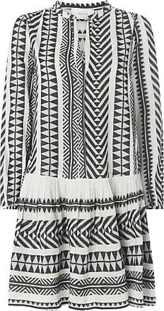 Neo Noir Kleid mit Ethno-Muster Modell Stef - Exklusiv bei uns erhältlich
