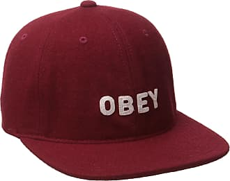 Obey mens100580001Afton 6 Panel Hat Baseball Cap - red - One Size