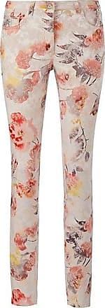 Madeleine Hose mit Blumenmuster Damen weiss/multicolor / orange