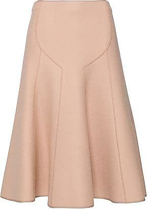 40d3191066 Agnona Agnona Woman Flared Wool-crepe Midi Skirt Blush Size 38