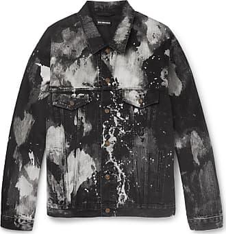 Balenciaga Oversized Bleached Denim Jacket - Black