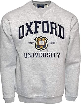 Oxford University OU201 Unisex Licensed Sweatshirt Sports Grey (XL)