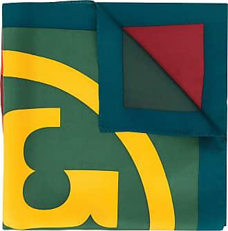Tory Burch Echarpe com estampa de logo - Verde