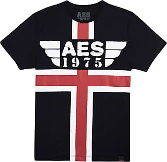 AES 1975 Camiseta AES 1975 Red and White Stripes