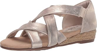 Easy Street womens Sandal,Gold,12 M US