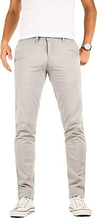 Yazubi Chino Trousers for Men Regular Fit Pants Luke Stretchy Chinos Casual Designer Smokey Cloud Light, Grey Gull (2R173802), W33/L30