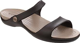 5ce48e63a37c9 Crocs Womens Ladies Cleo V Sandals (6 UK) (Espresso Mushroom)