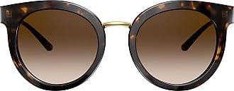 Dolce & Gabbana Eyewear Óculos de sol oversized - Marrom