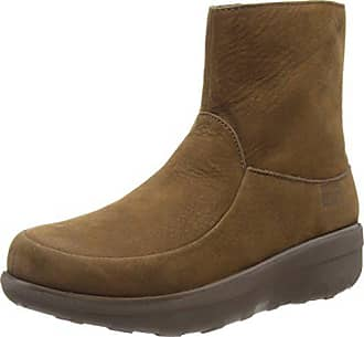 FitFlop Womens Loaff Shorty Zip Nubuck, Chocolate, 10 M US