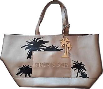 River Island Ladies Palm Print Beach Bag Shopper