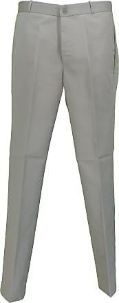 Relco Mens Classic Retro Mod Sta Press Trousers (42, Khaki)