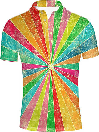 Hugs Idea Multi Color T-Shirt Modern Mens Pique Golf Polos Shirt Casual Short Sleeve