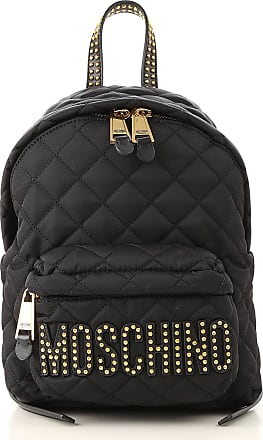 Moschino Backpack for Women On Sale, Black, Nylon, 2017, one size