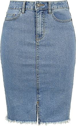 a3c2750ed71361 Noisy May Be Lexi HW MB Pencil Denim Skirt - Medium-lengte rok - blauw