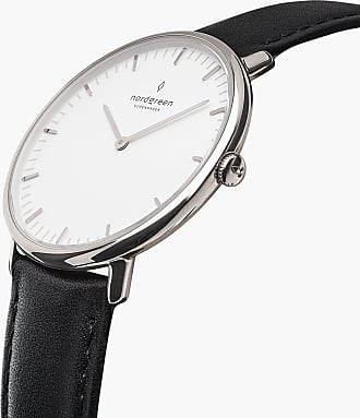 Nordgreen Native - Silver | Black Leather - 36mm