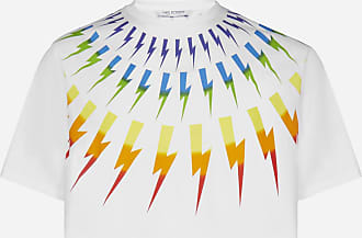 Neil Barrett Thunderbolt print cotton and modal t-shirt - NEIL BARRETT - man
