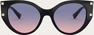 Valentino Valentino Occhiali Cat-eye Acetate Frame With Studs Women Black Acetate 100% OneSize