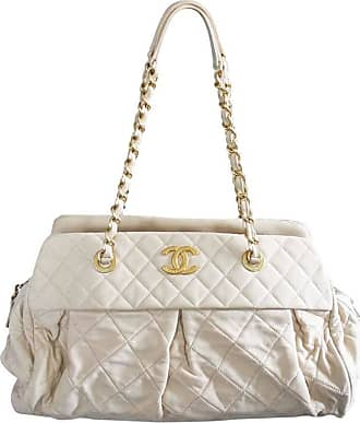 Chanel Soft Lambskin Beige Shoulder Bag Tote With Pleats No. 15 In Box e0a4111d624b3