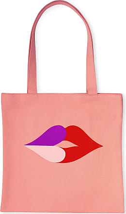 Kate Spade New York Canvas Book Tote with Interior Pocket, Heart Lips