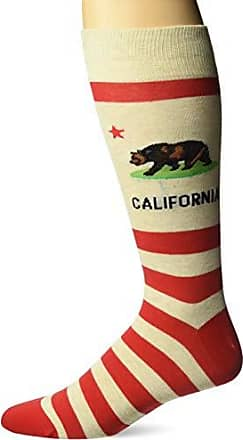 Hot Sox Mens Travel Series Novelty Crew Socks, California (Beige), Shoe Size: 6-12