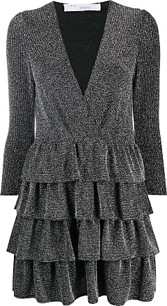 Iro ruffle mini dress - Black
