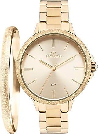 Technos Relógio Technos Feminino Ref: 2035mmc/k4x Dourado + Semijóia