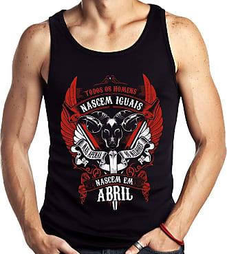 Dragon Store Camiseta Regata Homens de Abril Aries os Melhores Signo