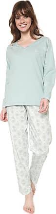 Pzama Pijama Pzama Estampado Verde/Off-white
