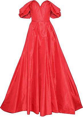 23f26dac79d6c Carolina Herrera Carolina Herrera Woman Off-the-shoulder Silk-taffeta Gown  Red Size