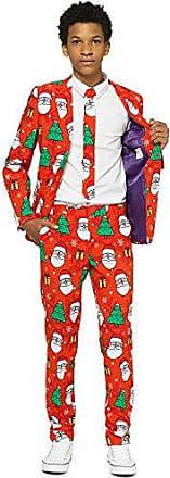 besteht aus Sakko Hose und Krawatte Opposuits Weihnachtsanz/üge f/ür Jungen in verschiedenen Drucken