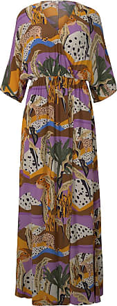 Tom Tailor Gemustertes Maxi-Wickelkleid, Damen, tropical safari print, Größe: L