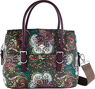 Oilily Hurray Handbag SHZ Khaki Damen Handtasche Schultertasche Grün Pink Bunt