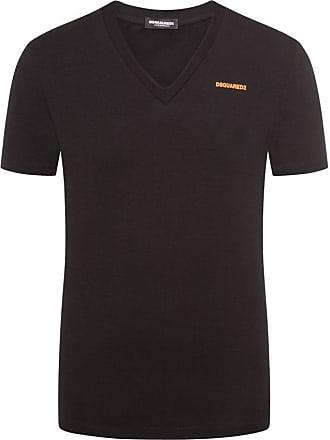 Dsquared2 T-Shirt mit V-Ausschnitt von Dsquared 2 in Schwarz für Herren