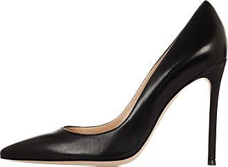 EDEFS Women Pumps Closed Toe High Heel Evening Wedding Court Shoes Black Size EU38