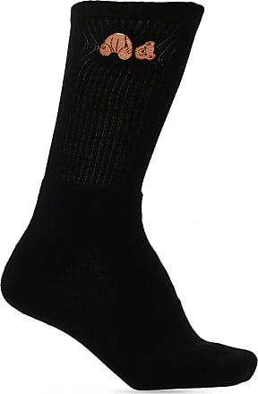 Palm Angels Embroidered Socks Mens Black