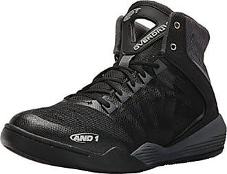 AND1 Mens Overdrive Basketball Shoe, Castlerock/Black/Jasmine, 8.5 M US