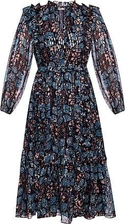 Ulla Johnson Seraphina Patterned Dress Womens Navy Blue