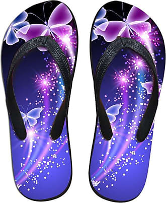Coloranimal Soft Rubber Home House Slippers Butterfly Printed Beach Water Flats EU38