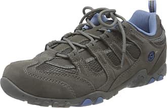Hi-Tec Quadra Classic Womens Low Rise Hiking Shoes, Grey (Grey/Charcoal/Cornflower 051), 6 UK (39 EU)